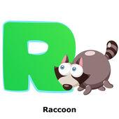 Animal alphabet R — Stock Vector