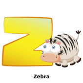 Animal alphabet Z — Stock Vector