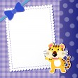 Tiger. baby card. — Stock Vector