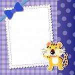 Tiger. baby card. — Stock Vector #27332333