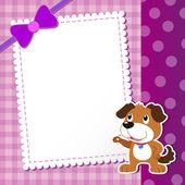 Dog. baby card. — Stock Vector