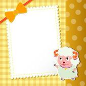 Sheep. baby card. — Stock Vector