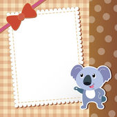 Koala. baby card. — Stock Vector