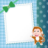 Macaco. cartão do bebê. — Vetorial Stock