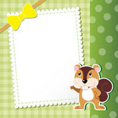 Squirrel. baby card. — Stock Vector