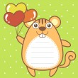 Cute squirrel of scrapbook background — Stock vektor