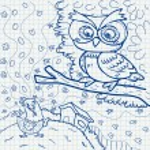 Notebook paper doodles — Stock Vector