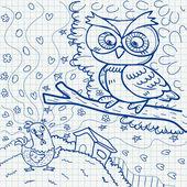 Notebook papier doodles — Stockvektor