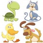 Cute cartoon animal set — Stock Vector #27690535