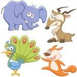 Cute cartoon animal set — Stock Vector #27690537