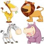 Cute cartoon animal set — Stock Vector #27690541