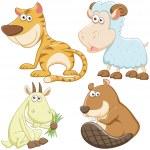 Cute cartoon animal set — Stock Vector #27690557
