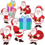 Cute cartoon Santa Claus collection — Stock Vector #28214873
