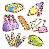 школа набор. набор различных школьных предметов — Cтоковый вектор