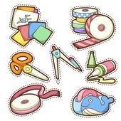 School set. set of different school items — Stock Vector