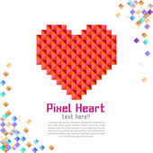 Abstract modern pixel background with love — Stok Vektör