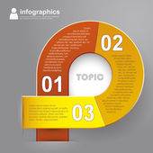 Vector abstract 3d paper infographics — Stock Vector