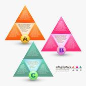 Abstracte 3d vector papier infographics — Stockvector