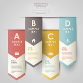 Vektor abstrakt 3d papper infographics — Stockvektor