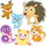Cute cartoon animal set — Stock Vector #30571341