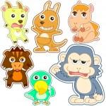 Cute cartoon animal set — Stock Vector #30571345