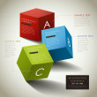 Vector abstract 3d box infographics — Stock Vector #31336075