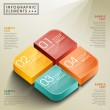 Vector abstract 3d box infographics — Stock Vector