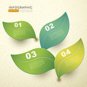 Vector abstract 3d paper leaf infographics — Stock Vector