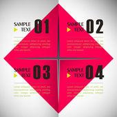 Infografía de papel — Vector de stock