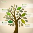 Vector abstract tree infographics — Wektor stockowy #34608869