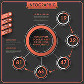 Conception infographie abstraite — Vecteur