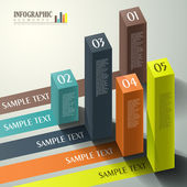 Vector abstract 3d cube infographics — Vetorial Stock