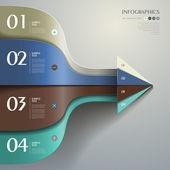 Vektorové abstraktní 3d papír infografika — Stock vektor