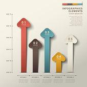 Abstrato 3d origami papel infográficos — Vetorial Stock