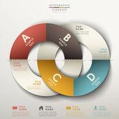 Абстрактная 3d оригами бумаги Инфографика — Cтоковый вектор