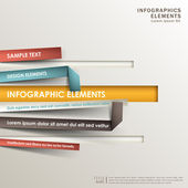 Abstract 3d origami paper infographics — Vecteur