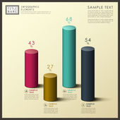 Abstract 3d cylinder infographics — Vecteur
