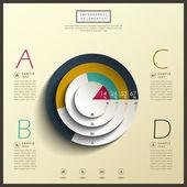 Infografia de gráfico de pizza 3d abstrato — Vetorial Stock
