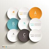 3d etiketi infographics soyut — Stok Vektör