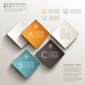 Abstract 3d tag infographics — Stock Vector