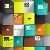 Abstrato 3d cubo infográficos — Vetorial Stock