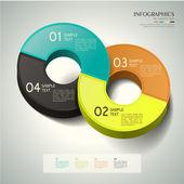 3d abstrato anel infográficos — Vetorial Stock