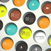 3d abstrato redondo infográficos — Vetorial Stock