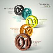 Абстрактная 3d номер Инфографика — Cтоковый вектор