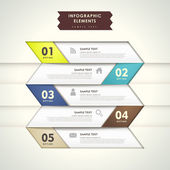 Абстрактная 3-я бумажная инфографика — Cтоковый вектор