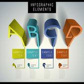 Abstract 3d alphabet infographics — Stock Vector