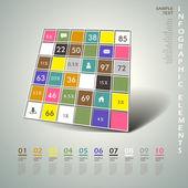 3d abstrato formam infográficos — Vetorial Stock