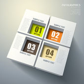 Abstract 3d cube infographics — Vecteur