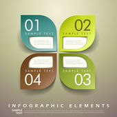 Abstract 3d leaf tag infographics — Stock Vector