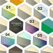 Abstratos infográficos hexagonais — Vetorial Stock